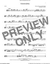 Cover icon of Your Song sheet music for viola solo by Elton John, Rod Stewart and Bernie Taupin, intermediate skill level