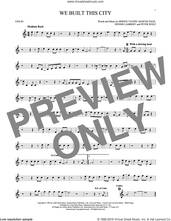 Cover icon of We Built This City sheet music for violin solo by Starship, Bernie Taupin, Dennis Lambert, Martin George Page and Peter Wolf, intermediate skill level