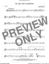 Cover icon of We Are The Champions sheet music for trumpet solo by Queen and Freddie Mercury, intermediate skill level