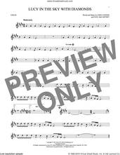 Cover icon of Lucy In The Sky With Diamonds sheet music for violin solo by The Beatles, Elton John, John Lennon and Paul McCartney, intermediate skill level