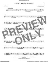 Cover icon of Takin' Care Of Business sheet music for alto saxophone solo by Bachman-Turner Overdrive and Randy Bachman, intermediate skill level
