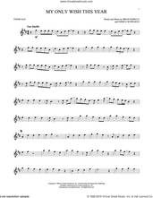 Cover icon of My Only Wish This Year sheet music for tenor saxophone solo by Britney Spears, Brian Kierulf and Joshua Schwartz, intermediate skill level