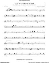 Cover icon of God Help The Outcasts sheet music for alto saxophone solo by Bette Midler, Alan Menken and Stephen Schwartz, intermediate skill level