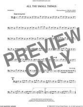 Cover icon of All The Small Things sheet music for trombone solo by Blink 182, Mark Hoppus, Tom DeLonge and Travis Barker, intermediate skill level