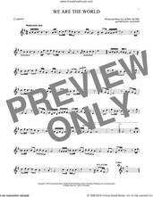 Cover icon of We Are The World sheet music for clarinet solo by Michael Jackson, USA For Africa, Lionel Richie and Lionel Richie & Michael Jackson, intermediate skill level