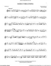 Cover icon of Barely Breathing sheet music for tenor saxophone solo by Duncan Sheik, intermediate skill level