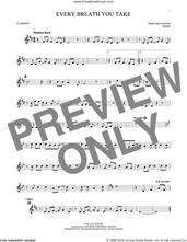 Cover icon of Every Breath You Take sheet music for clarinet solo by The Police and Sting, intermediate skill level