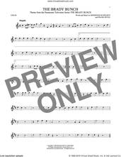 Cover icon of The Brady Bunch sheet music for violin solo by Frank DeVol and Sherwood Schwartz, intermediate skill level