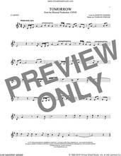 Cover icon of Tomorrow sheet music for clarinet solo by Charles Strouse and Martin Charnin, intermediate skill level