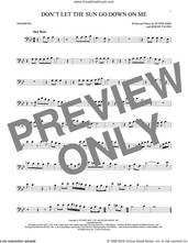 Cover icon of Don't Let The Sun Go Down On Me sheet music for trombone solo by Elton John & George Michael, David Archuleta, Bernie Taupin and Elton John, intermediate skill level