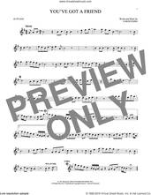 Cover icon of You've Got A Friend sheet music for alto saxophone solo by James Taylor and Carole King, intermediate skill level