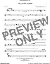 Cover icon of Top Of The World sheet music for clarinet solo by Carpenters, John Bettis and Richard Carpenter, intermediate skill level