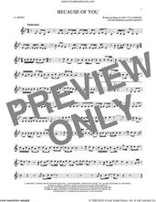 Cover icon of Because Of You sheet music for clarinet solo by Kelly Clarkson, Ben Moody and David Hodges, intermediate skill level