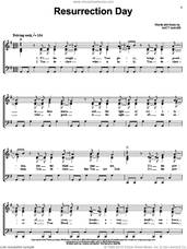 Cover icon of Resurrection Day sheet music for voice, piano or guitar by Matt Maher, intermediate skill level