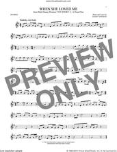 Cover icon of When She Loved Me (from Toy Story 2) sheet music for trumpet solo by Sarah McLachlan and Randy Newman, intermediate skill level
