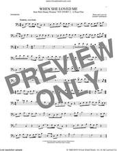 Cover icon of When She Loved Me (from Toy Story 2) sheet music for trombone solo by Sarah McLachlan and Randy Newman, intermediate skill level