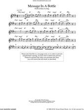 Cover icon of Message In A Bottle sheet music for voice and other instruments (fake book) by The Police and Sting, intermediate skill level
