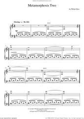 Cover icon of Metamorphosis Two sheet music for piano solo by Philip Glass, classical score, intermediate skill level