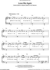 Cover icon of Love Me Again sheet music for piano solo by John Newman and Steve Booker, easy skill level