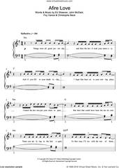 Cover icon of Afire Love sheet music for piano solo by Ed Sheeran, Christophe Beck, Foy Vance and John McDaid, easy skill level