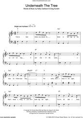 Cover icon of Underneath The Tree sheet music for piano solo by Kelly Clarkson and Greg Kurstin, easy skill level