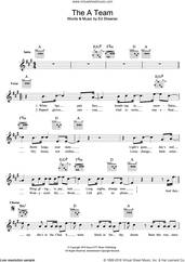 Cover icon of The A Team sheet music for voice and other instruments (fake book) by Ed Sheeran, intermediate skill level