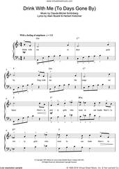 Cover icon of Drink With Me (To Days Gone By) (from Les Miserables) sheet music for voice, piano or guitar by Boublil and Schonberg, Alain Boublil, Claude-Michel Schonberg and Herbert Kretzmer, intermediate skill level