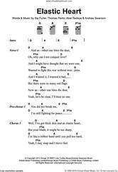 Cover icon of Elastic Heart sheet music for voice, piano or guitar by Sia, Abel Tesfaye, Andrew Swanson, Sia Furler and Thomas Wesley Pentz, intermediate skill level