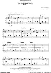 Cover icon of In Happysadness sheet music for piano solo by Hauschka and Volker Bertelmann, classical score, intermediate skill level