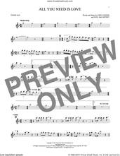 Cover icon of All You Need Is Love sheet music for tenor saxophone solo by The Beatles, John Lennon and Paul McCartney, intermediate skill level