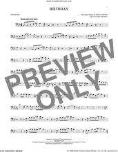 Cover icon of Birthday sheet music for trombone solo by The Beatles, John Lennon and Paul McCartney, intermediate skill level