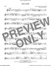 Cover icon of Hey Jude sheet music for oboe solo by The Beatles, John Lennon and Paul McCartney, intermediate skill level