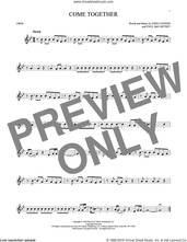 Cover icon of Come Together sheet music for oboe solo by The Beatles, John Lennon and Paul McCartney, intermediate skill level