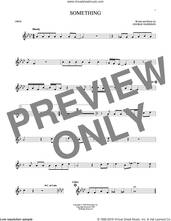 Cover icon of Something sheet music for oboe solo by The Beatles and George Harrison, intermediate skill level