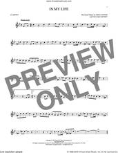 Cover icon of In My Life sheet music for clarinet solo by The Beatles, John Lennon and Paul McCartney, intermediate skill level