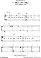 Cover icon of The Touch Of Your Lips sheet music for voice, piano or guitar by Nat King Cole and Ray Noble, intermediate skill level