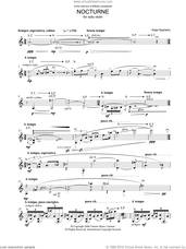 Cover icon of Nocturne sheet music for violin solo by Kaija Saariaho, classical score, intermediate skill level