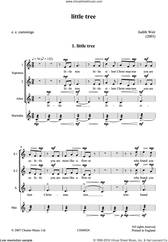 Cover icon of Little Tree sheet music for choir by Judith Weir and E.E. Cummings, classical score, intermediate skill level
