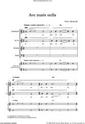 Cover icon of Ave Maris Stella sheet music for choir (SATB: soprano, alto, tenor, bass) by Paul Mealor and Liturgical Text, classical score, intermediate skill level