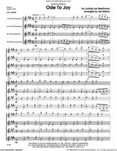 Cover icon of Ode To Joy (COMPLETE) sheet music for saxophone quartet by Ludwig van Beethoven and Les Sabina, intermediate skill level