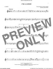 Cover icon of I'm A Loser sheet music for clarinet solo by The Beatles, John Lennon and Paul McCartney, intermediate skill level