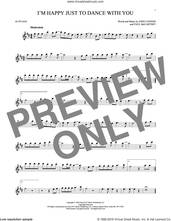 Cover icon of I'm Happy Just To Dance With You sheet music for alto saxophone solo by The Beatles, John Lennon and Paul McCartney, intermediate skill level