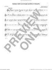 Cover icon of While My Guitar Gently Weeps sheet music for alto saxophone solo by The Beatles, intermediate skill level