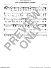 Cover icon of When The Roll Is Called Up Yonder sheet music for voice and other instruments (fake book) by James M. Black, intermediate skill level