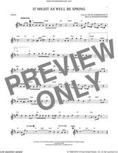 Cover icon of It Might As Well Be Spring sheet music for violin solo by Rodgers & Hammerstein, Oscar II Hammerstein and Richard Rodgers, intermediate skill level
