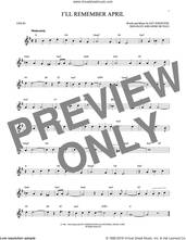 Cover icon of I'll Remember April sheet music for violin solo by Woody Herman & His Orchestra, Don Raye, Gene DePaul and Pat Johnston, intermediate skill level
