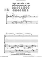 Cover icon of Right Next Door To Hell sheet music for guitar (tablature) by Guns N' Roses, Axl Rose, Izzy Stradlin and Timo Caltio, intermediate skill level