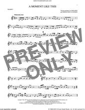 Cover icon of A Moment Like This sheet music for trumpet solo by Kelly Clarkson, John Reid and Jorgen Elofsson, intermediate skill level
