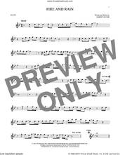 Cover icon of Fire And Rain sheet music for flute solo by James Taylor, intermediate skill level