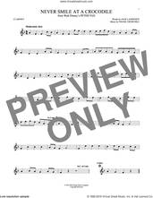 Cover icon of Never Smile At A Crocodile sheet music for clarinet solo by Jack Lawrence and Frank Churchill, intermediate skill level